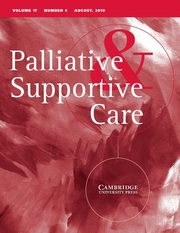 Palliative & Supportive Care Volume 17 - Issue 4 -