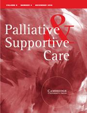 Palliative & Supportive Care Volume 8 - Issue 4 -