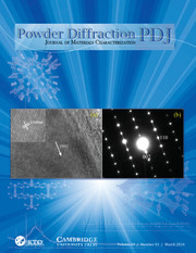 Powder Diffraction Volume 29 - Issue 1 -