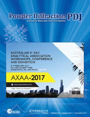 Powder Diffraction Volume 32 - SupplementS2 -