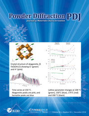 Powder Diffraction Volume 33 - Issue 4 -