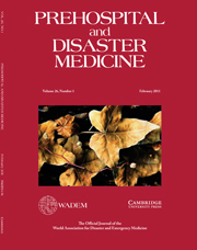 Prehospital and Disaster Medicine Volume 26 - Issue 1 -