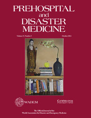 Prehospital and Disaster Medicine Volume 27 - Issue 5 -