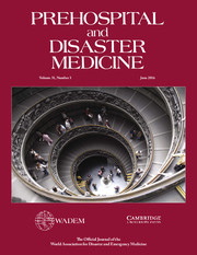 Prehospital and Disaster Medicine Volume 31 - Supplement3 -