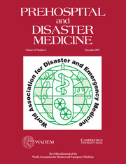Prehospital and Disaster Medicine Volume 34 - Issue 6 -