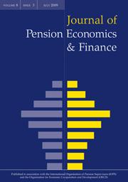 Journal of Pension Economics & Finance Volume 8 - Issue 3 -