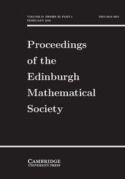 Proceedings of the Edinburgh Mathematical Society Volume 61 - Issue 1 -