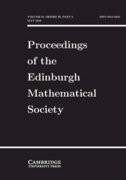 Proceedings of the Edinburgh Mathematical Society Volume 61 - Issue 2 -