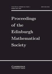 Proceedings of the Edinburgh Mathematical Society Volume 63 - Issue 1 -
