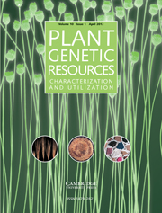Plant Genetic Resources Volume 10 - Issue 1 -