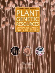 Plant Genetic Resources Volume 10 - Issue 2 -