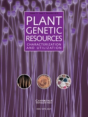 Plant Genetic Resources Volume 11 - Issue 3 -