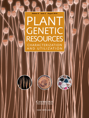 Plant Genetic Resources Volume 8 - Issue 2 -