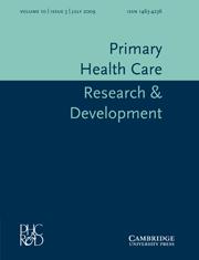 Primary Health Care Research & Development Volume 10 - Issue 3 -