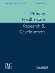 Primary Health Care Research & Development Volume 12 - Issue 3 -