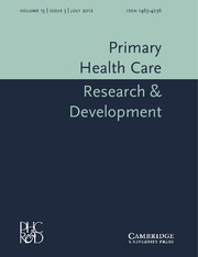 Primary Health Care Research & Development Volume 13 - Issue 3 -