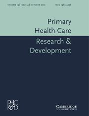 Primary Health Care Research & Development Volume 13 - Issue 4 -