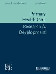 Primary Health Care Research & Development Volume 8 - Issue 2 -