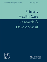 Primary Health Care Research & Development Volume 9 - Issue 3 -
