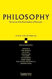 Philosophy Volume 78 - Issue 4 -