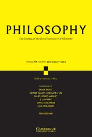 Philosophy Volume 87 - Issue 1 -