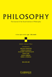 Philosophy Volume 91 - Issue 3 -