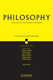Philosophy Volume 91 - Issue 4 -