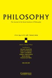 Philosophy Volume 94 - Issue 1 -