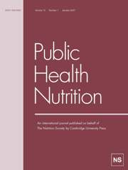 Public Health Nutrition Volume 10 - Issue 1 -