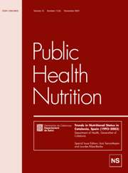 Public Health Nutrition Volume 10 - Issue 11 -