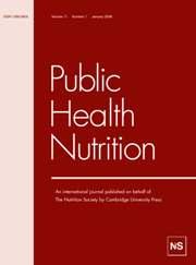 Public Health Nutrition Volume 11 - Issue 1 -
