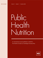 Public Health Nutrition Volume 11 - Issue 11 -