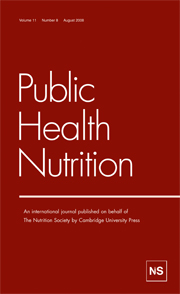 Public Health Nutrition Volume 11 - Issue 8 -