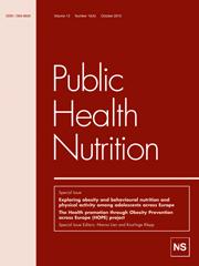 Public Health Nutrition Volume 13 - Issue 10 -