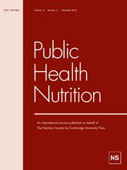 Public Health Nutrition Volume 13 - Issue 11 -