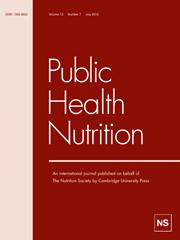 Public Health Nutrition Volume 13 - Issue 7 -