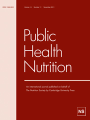 Public Health Nutrition Volume 14 - Issue 11 -