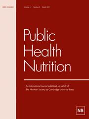 Public Health Nutrition Volume 14 - Issue 3 -