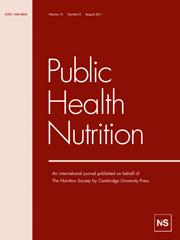 Public Health Nutrition Volume 14 - Issue 8 -