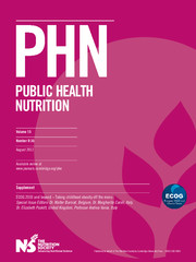 Public Health Nutrition Volume 15 - Issue 8 -