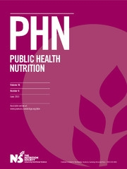 Public Health Nutrition Volume 16 - Issue 6 -