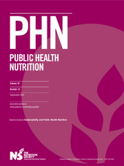 Public Health Nutrition Volume 18 - Issue 13 -  Sustainability and Public Health Nutrition