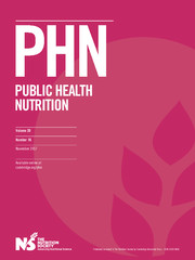 Public Health Nutrition Volume 20 - Issue 16 -