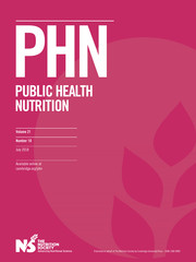 Public Health Nutrition Volume 21 - Issue 10 -
