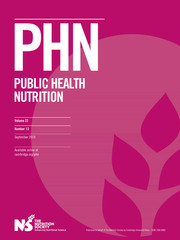 Public Health Nutrition Volume 22 - Issue 13 -