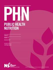 Public Health Nutrition Volume 22 - Issue 18 -