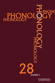 Phonology Volume 28 - Issue 2 -