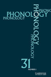 Phonology Volume 31 - Issue 1 -