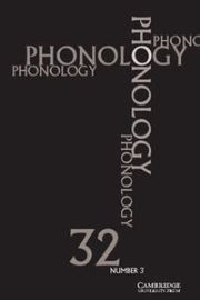 Phonology Volume 32 - Issue 3 -