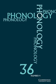 Phonology Volume 36 - Issue 4 -